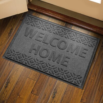 Amald Welcome Home Doormat Color: Charcoal