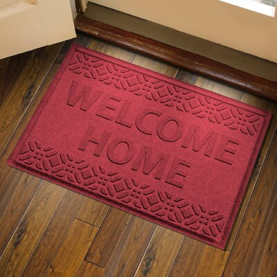 Amald Welcome Home Doormat Color: Red/Black