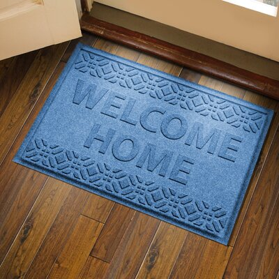 Amald Welcome Home Doormat Color: Medium Blue