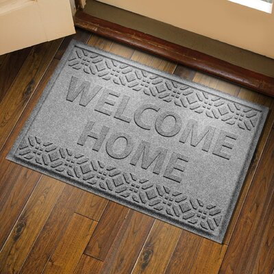 Amald Welcome Home Doormat Color: Medium Gray