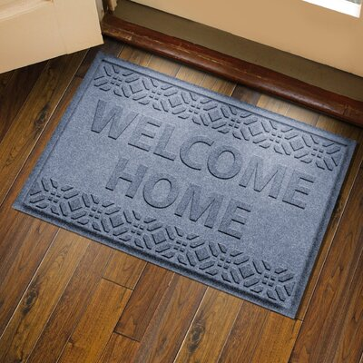 Amald Welcome Home Doormat Color: Bluestone
