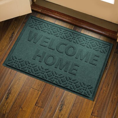 Amald Welcome Home Doormat Color: Evergreen