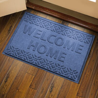 Amald Welcome Home Doormat Color: Navy