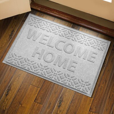 Amald Welcome Home Doormat Color: White