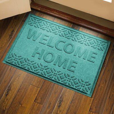 Amald Welcome Home Doormat Color: Aquamarine