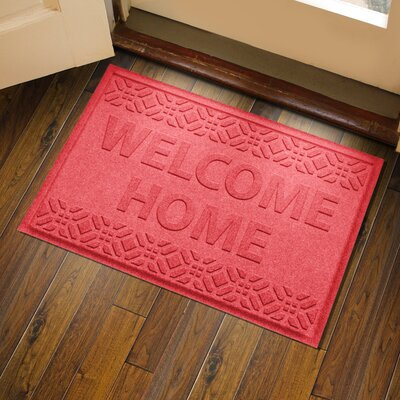 Amald Welcome Home Doormat Color: Solid Red