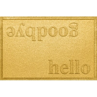 Ashland Hello/Goodbye Doormat Color: Yellow