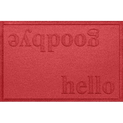 Ashland Hello/Goodbye Doormat Color: Solid Red