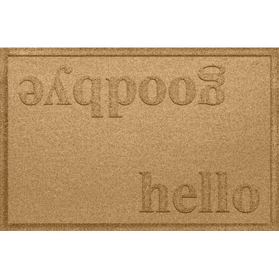 Ashland Hello/Goodbye Doormat Color: Gold