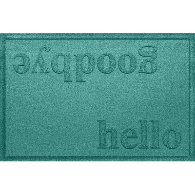 Ashland Hello/Goodbye Doormat Color: Aquamarine