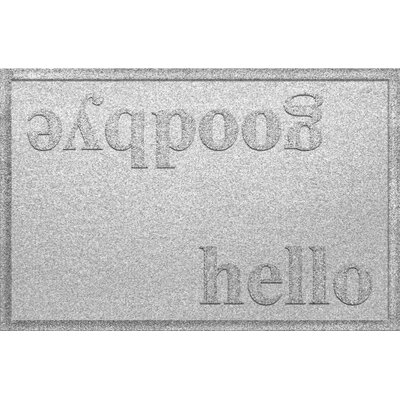 Ashland Hello/Goodbye Doormat Color: White