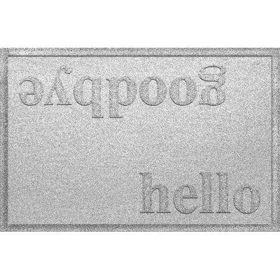Ashland Hello/Goodbye Doormat Color: White