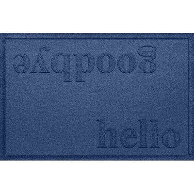 Ashland Hello/Goodbye Doormat Color: Navy