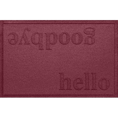 Ashland Hello/Goodbye Doormat Color: Bordeaux