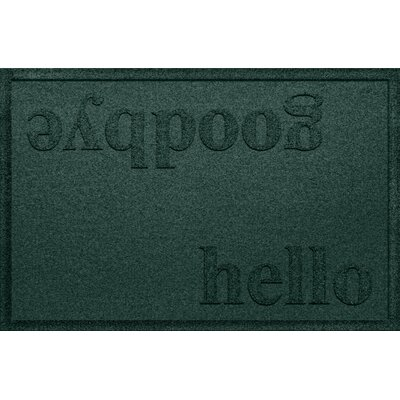 Ashland Hello/Goodbye Doormat Color: Evergreen