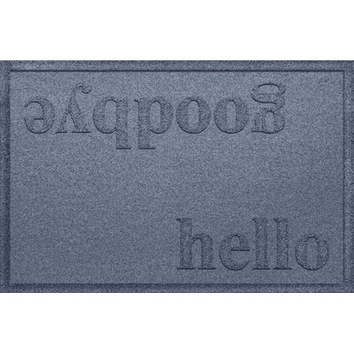Ashland Hello/Goodbye Doormat Color: Bluestone