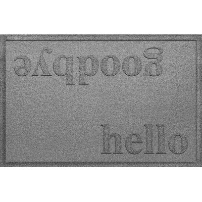 Ashland Hello/Goodbye Doormat Color: Medium Gray