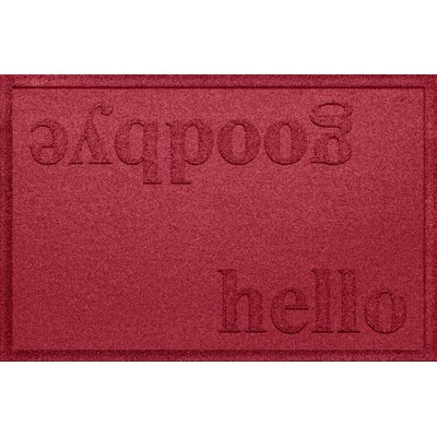 Ashland Hello/Goodbye Doormat Color: Red/Black