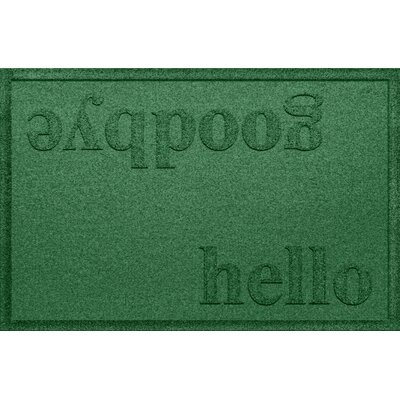 Ashland Hello/Goodbye Doormat Color: Light Green