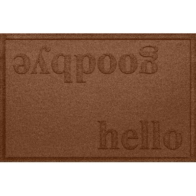 Ashland Hello/Goodbye Doormat Color: Dark Brown