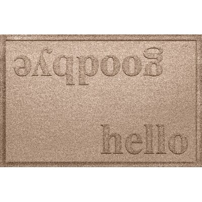 Ashland Hello/Goodbye Doormat Color: Medium Brown