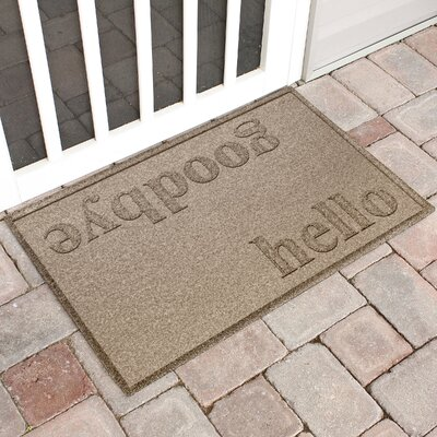 Ashland Hello/Goodbye Doormat Color: Camel