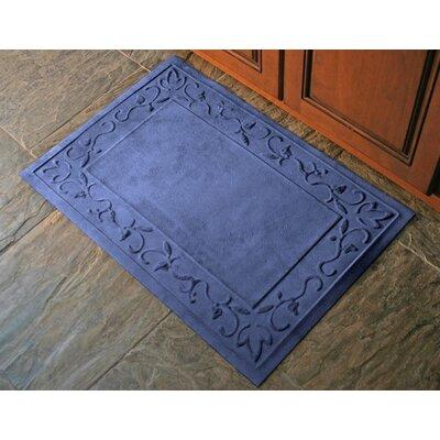 Deidre Vine Doormat Mat Size: Half Oval 24 x 39, Color: Montego Navy