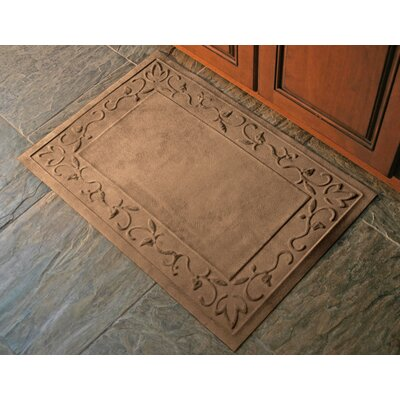 Deidre Vine Doormat Mat Size: Half Oval 29 x 51, Color: Montego Chocolate