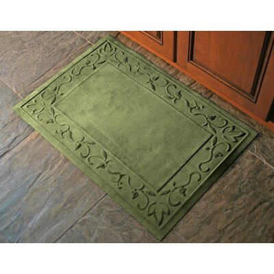 Deidre Vine Doormat Mat Size: Rectangle 34 x 68, Color: Montego Green