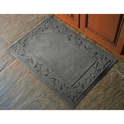 Deidre Vine Doormat Mat Size: Rectangle 2 x 3, Color: Charcoal