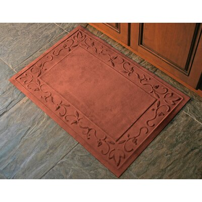 Soft Impressions Vine Doormat Rug Size: 2 x 3, Color: Montego Pepper