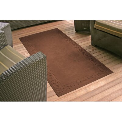 Soft Impressions Vine Doormat Rug Size: 34 x 52, Color: Montego Chocolate