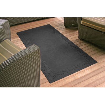 Soft Impressions Vine Doormat Rug Size: 34 x 52, Color: Charcoal
