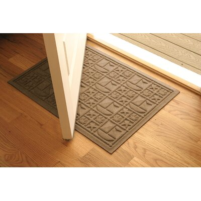 Aqua Shield Medium Brown Nautical Mat