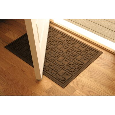 Aqua Shield Dark Brown Nautical Mat