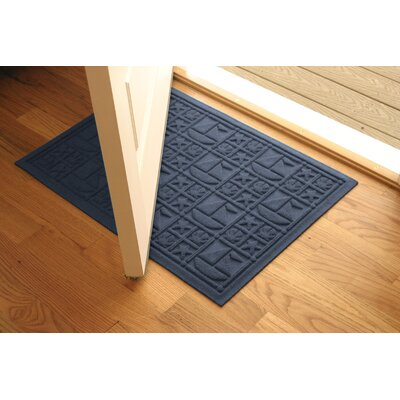 Aqua Shield Navy Nautical Mat