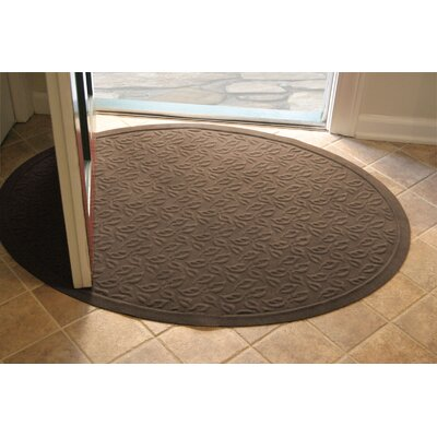 Soft Impressions Dogwood Leaf Doormat Size: Oval 3 x 4, Color: Montego Chocolate