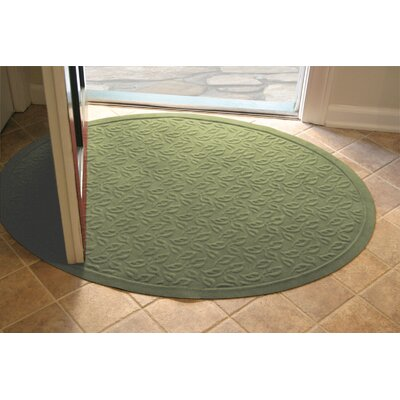 Soft Impressions Dogwood Leaf Doormat Size: Oval 3 x 4, Color: Montego Green