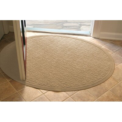 Soft Impressions Dogwood Leaf Doormat Size: Oval 3 x 4, Color: Montego Latte