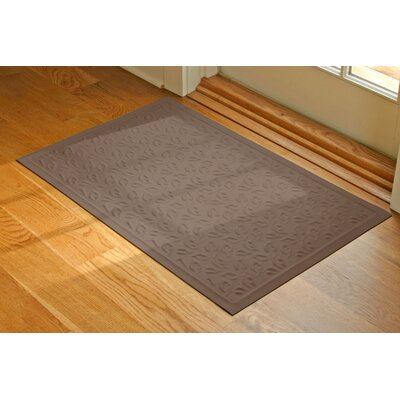 Soft Impressions Dogwood Leaf Doormat Mat Size: Rectangle 2 x 3, Color: Montego Chocolate