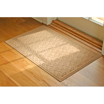 Soft Impressions Dogwood Leaf Doormat Mat Size: Rectangle 2 x 3, Color: Charcoal
