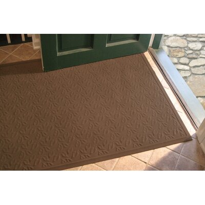 Soft Impressions Dogwood Leaf Doormat Size: Rectangle 3 x 5, Color: Montego Chocolate