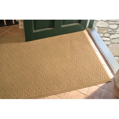 Soft Impressions Dogwood Leaf Doormat Mat Size: Rectangle 3 x 5, Color: Montego Latte