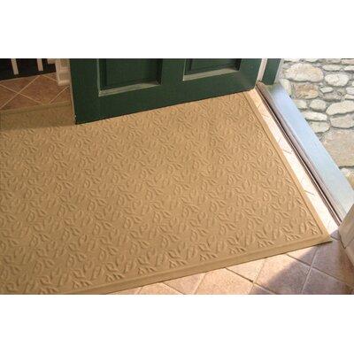 Soft Impressions Dogwood Leaf Doormat Size: Rectangle 3 x 5, Color: Montego Latte