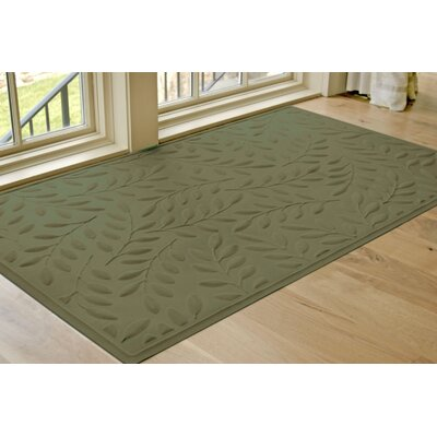 Soft Impressions Britney Leaf Doormat Rug Size: Rectangle 2 x 3, Color: Green