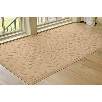 Soft Impressions Britney Leaf Doormat Mat Size: Rectangle 2 x 3, Color: Latte