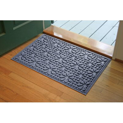 Aqua Shield Bluestone Stained Glass Mat Size: 2 x 3