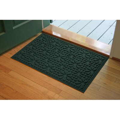 Aqua Shield Evergreen Stained Glass Mat Size: 2 x 3