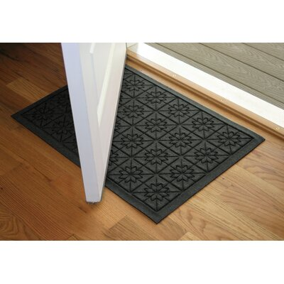 Aqua Shield Charcoal Star Quilt Mat Size: 2 x 3