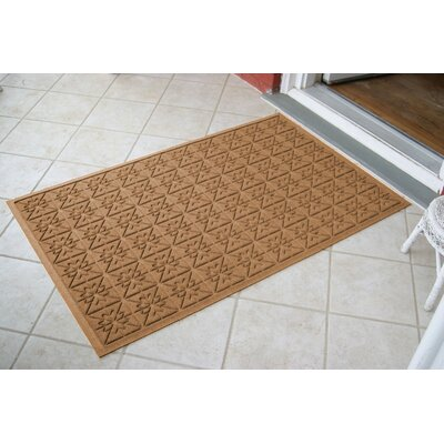 Aqua Shield Medium Brown Star Quilt Mat Size: 3 x 5